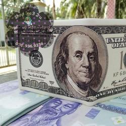 Ví Hình Tờ Tiền Đô la 100 USD