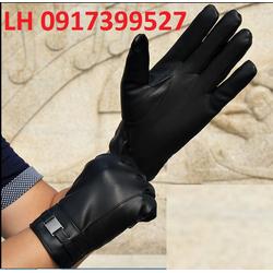 Găng tay da cảm ứng bao tay da cảm ứng lót lông L12G1