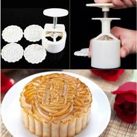 Free Ship- Bộ khuôn làm bánh trung thu mẫu tròn