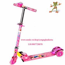 Xe trượt scooter 3 bánh có led