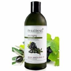 Dầu gội organic phục hồi tóc hư tổn Dầu Oliu và Nho Petal Fresh