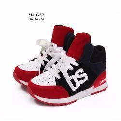 Giày cổ cao cho bé gái 3 - 12 tuổi kiểu dáng thể thao cá tính G37