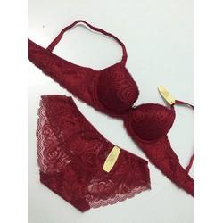 Bộ lót Victoria ren đỏ quyến rủ