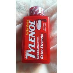 Viên Giảm Đau, Hạ Sốt Tylenol Extra Strength Acetaminophen 325 viên