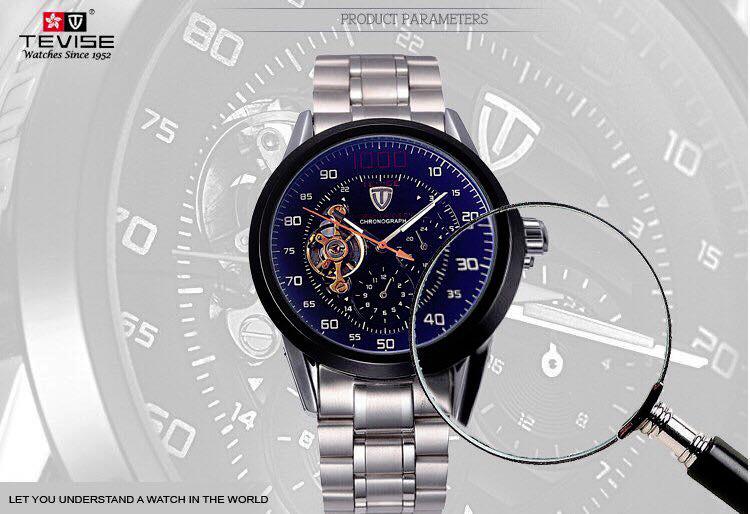 Đồng hồ tự động lộ máy cao cấp TEVISE 1000 1