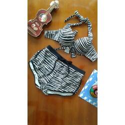 Bikini sọc đen thời trang