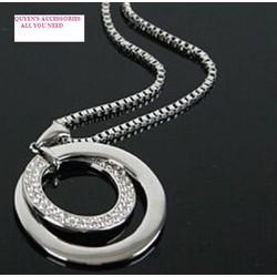 Bộ Dây chuyền dài và mặt mạ bạc thời trang  hàng nhập khẩu