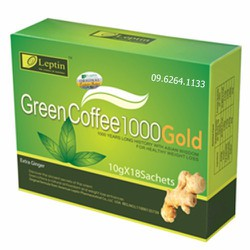 Cafe giảm cân green coffee leptin 1000 gold