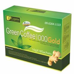 Cafe giảm cân green coffee leptin 1000 gold