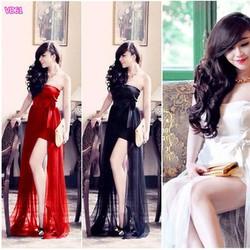 Đầm cúp ngực dài thiết kế Cao Cấp