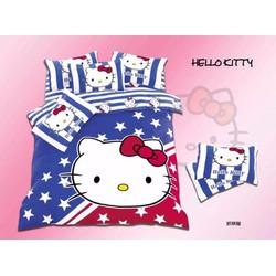 Bộ Drap giường cotton hoạ tiết hoạt hình dễ thương cho bé