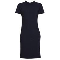 Áo váy đầm len mỏng dáng dài midi ngắn tay cổ tròn ZENKO CS3 DAM 061 N