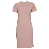Áo váy đầm len mỏng dáng dài midi ngắn tay cổ tròn ZENKO CS3 062 BP