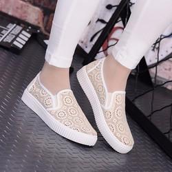 Giày mọi nữ ren hoa thời trang - LN300