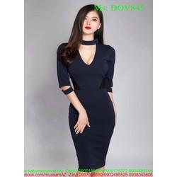 Đầm ôm xinh đẹp cổ V khoét sâu thời trang DOV845