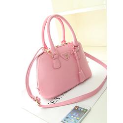 Túi xách tay da mềm Hàn Quốc sang trọng màu hồng