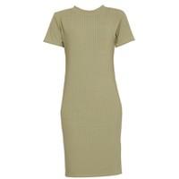 Áo váy đầm len mỏng dáng dài midi ngắn tay cổ tròn ZENKO CS3 061 OL