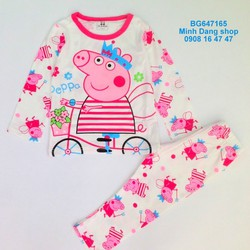Bộ thun Peppa pigs vải mịn đẹp
