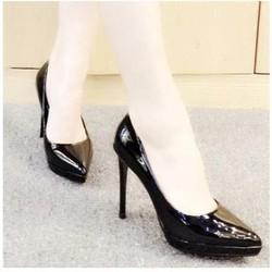 giày cao gót da bóng mụi nhọn