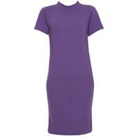 Áo váy đầm len mỏng dáng dài midi ngắn tay cổ tròn ZENKO CS3 DAM 061 P