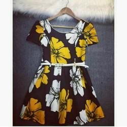 Đầm hoa hàng nhập cao cấp QC