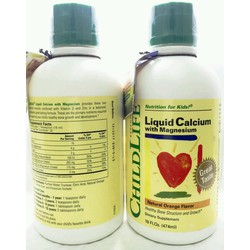 Siro bổ sung Canxi cho bé Childlife Liquid Calcium with Magnesium
