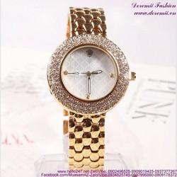 Đồng hồ inox nữ đính hạt lấp lánh sang trọng DHI129