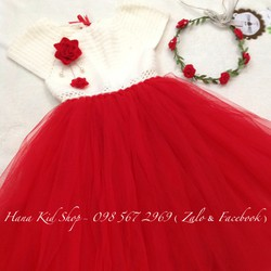 Đầm tutu handmade và vòng hoa xinh xắn cho bé yêu