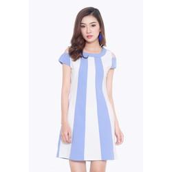 Đầm Cổ Tròn Tay Nhúng Thời trang
