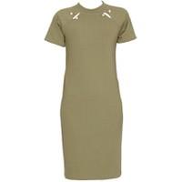Áo váy đầm len mỏng dáng dài midi ngắn tay cổ tròn ZENKO CS3 062 OL