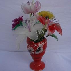 Chậu hoa voan handmade ốc đỏ