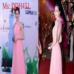 Đầm maxi dự tiệc kiểu cố yếm xinh đẹp DDH431