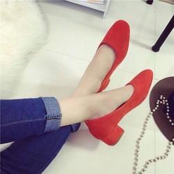 Giày cao gót đế mũi vuông