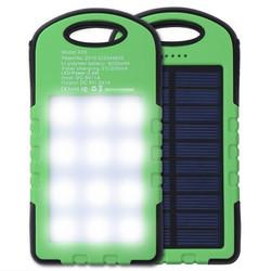 Sạc Dự phòng solar Power bank Năng lượng Mặt trời đèn LED- PKCB