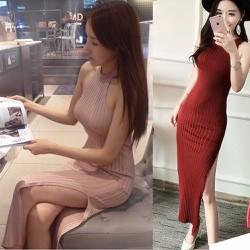 Đầm ôm xẻ tà Hàn Quốc kiểu dáng sang trọng 128