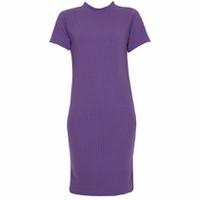 Áo Váy Đầm Len Mỏng Dáng Form Dài Midi Ngắn Tay Cổ Tròn