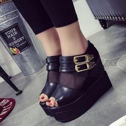 SD337D - Giày Sandal Nữ Đế Xuồng Cá Tính