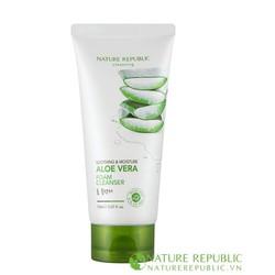 Sửa rửa mặt Soothing  Moisture Aloe Vera Foam Cleanser
