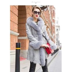 Áo khoác măng tô lót lông cực dày