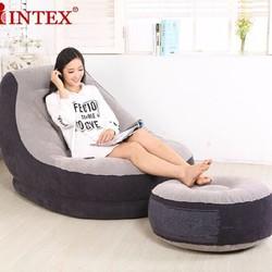 Ghế hơi sofa tựa lưng intex cao cấp tặng bơm điện