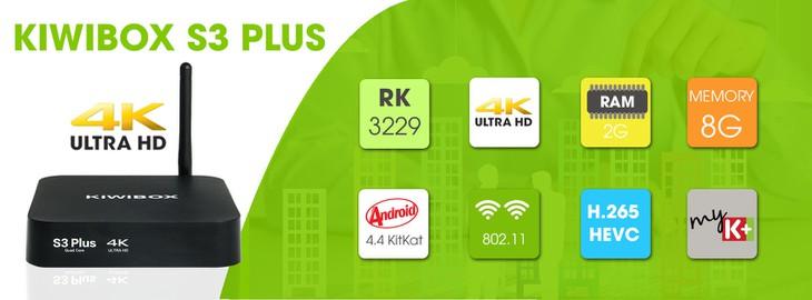 Android TV box Kiwi S3 Plus Ram 2GB cấu hình Khủng + Chuột bay 4