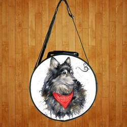 Túi đeo chéo hình tròn Chó Sói