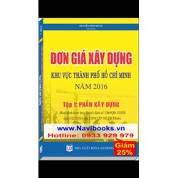 Sách: Đơn giá Xây Dựng khu vực TP. Hồ Chí Minh - Phần Xây Dựng