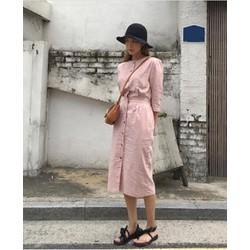 Đầm nút vintage