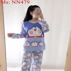 Đồ bộ nữ mặc nhà dài hình mèo đoremon dễ thương NN479