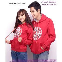 Áo khoác cặp tình nhân có nón logo sành điệu xAKC150