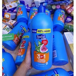 Sữa Tắm, Gội Và Xả Cho Trẻ Em Suave Kids 3 In 1