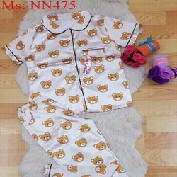 Đồ bộ nữ mặc nhà dài hình chú gấu đáng yêu NN475