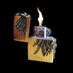 Bật Lửa gas zippo Godes -Vàng