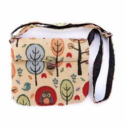 Túi đeo chéo thời trang thổ cẩm họa tiết độc đáo Hoian Gifts